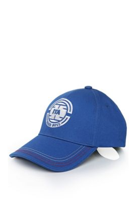 Baseball cap with stitching: 'Cap Flag 2', Blue