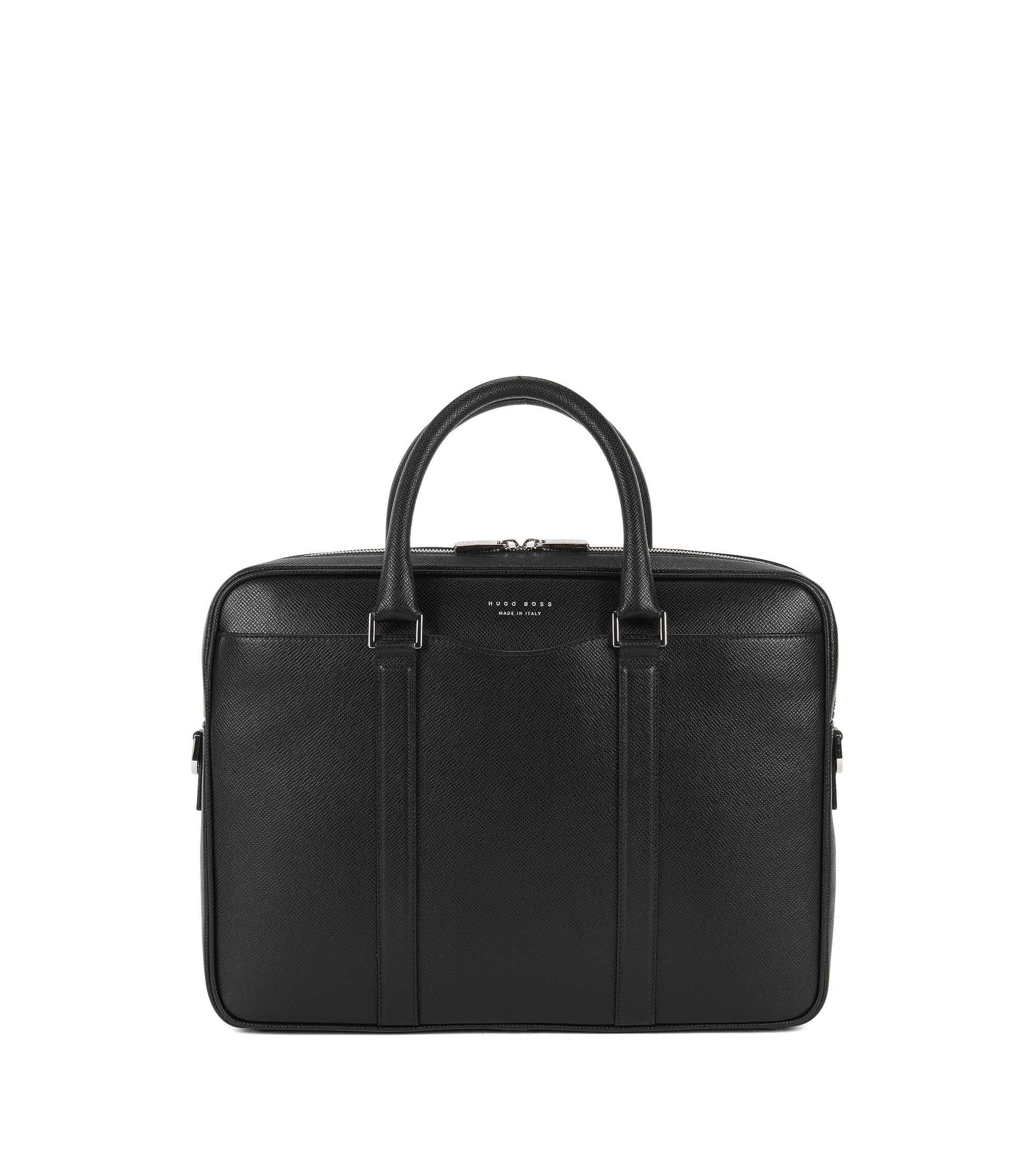 Signature Collection bag in palmellato leather, Black