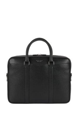Signature Collection bag in palmellato leather, Black