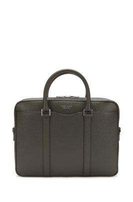 Signature Collection bag in palmellato leather, Dark Green