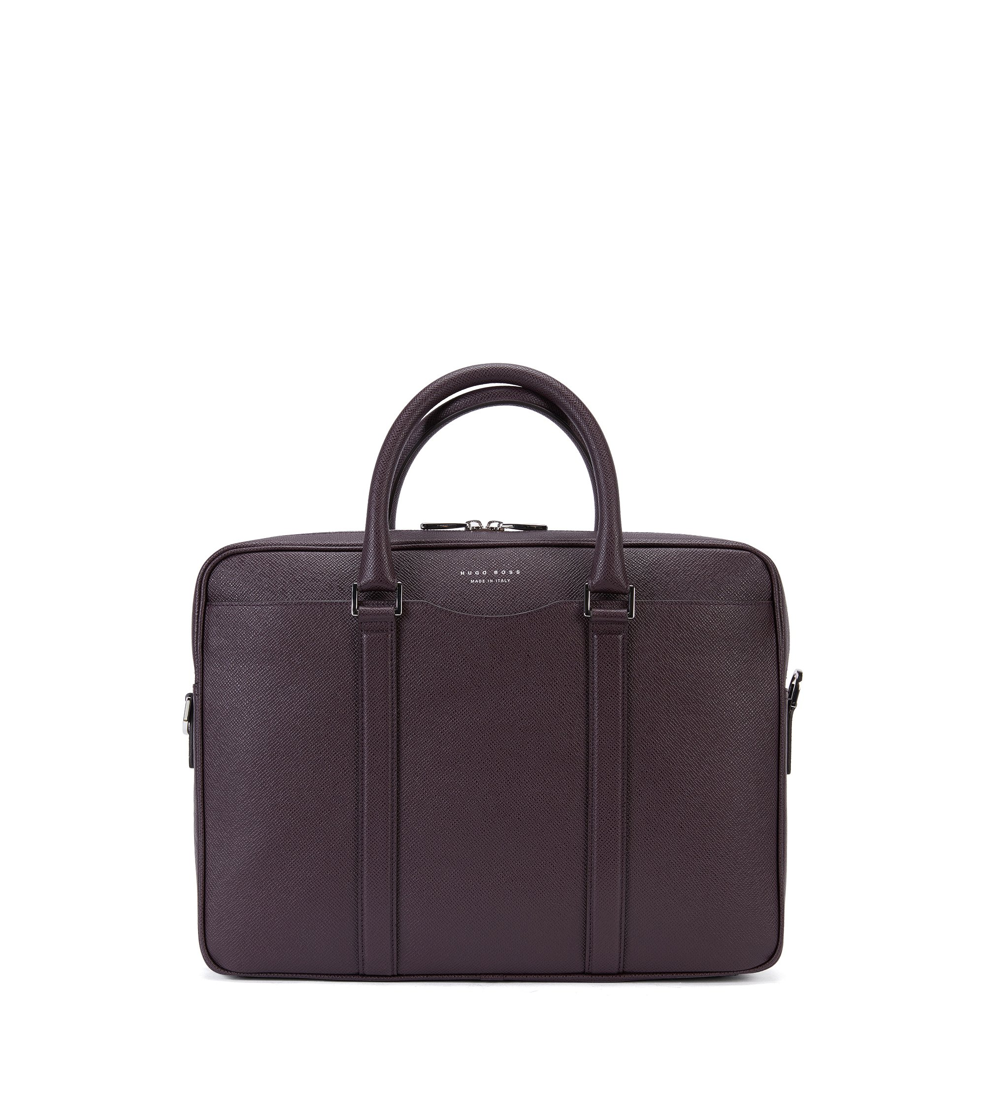 Tas van palmellatoleer uit de Signature Collection van BOSS, Donkerrood
