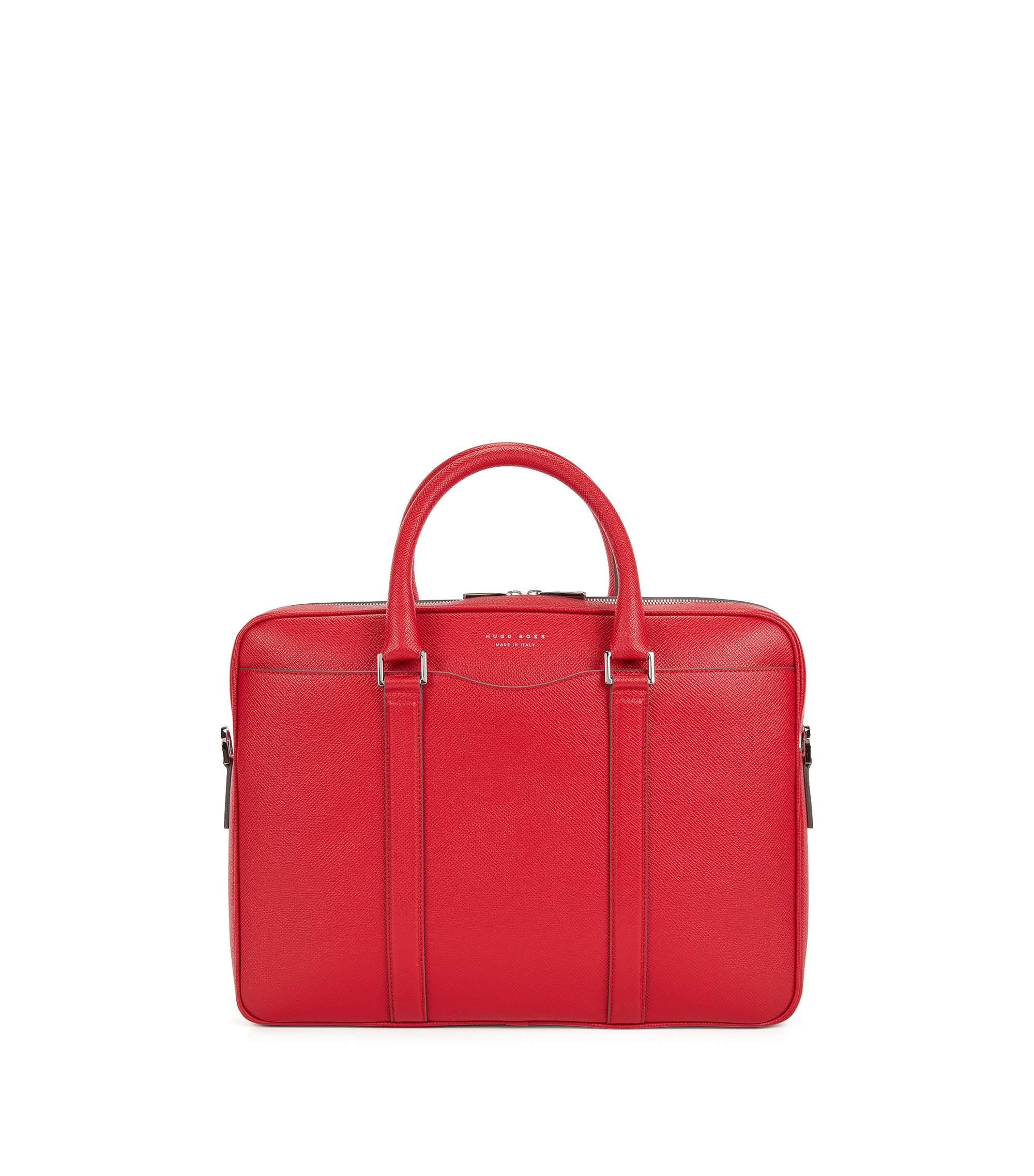 Signature Collection bag in palmellato leather, Red