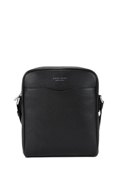 Signature Collection reporter bag in palmellato leather, Black