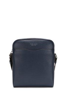Signature Collection reporter bag in palmellato leather, Dark Blue