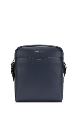 Signature Collection reporter bag in palmellato leather, Dark Blue