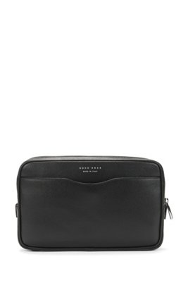 Signature Collection small pouch in palmellato leather, Black