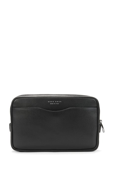 Signature Collection small pouch in palmellato leather, Black