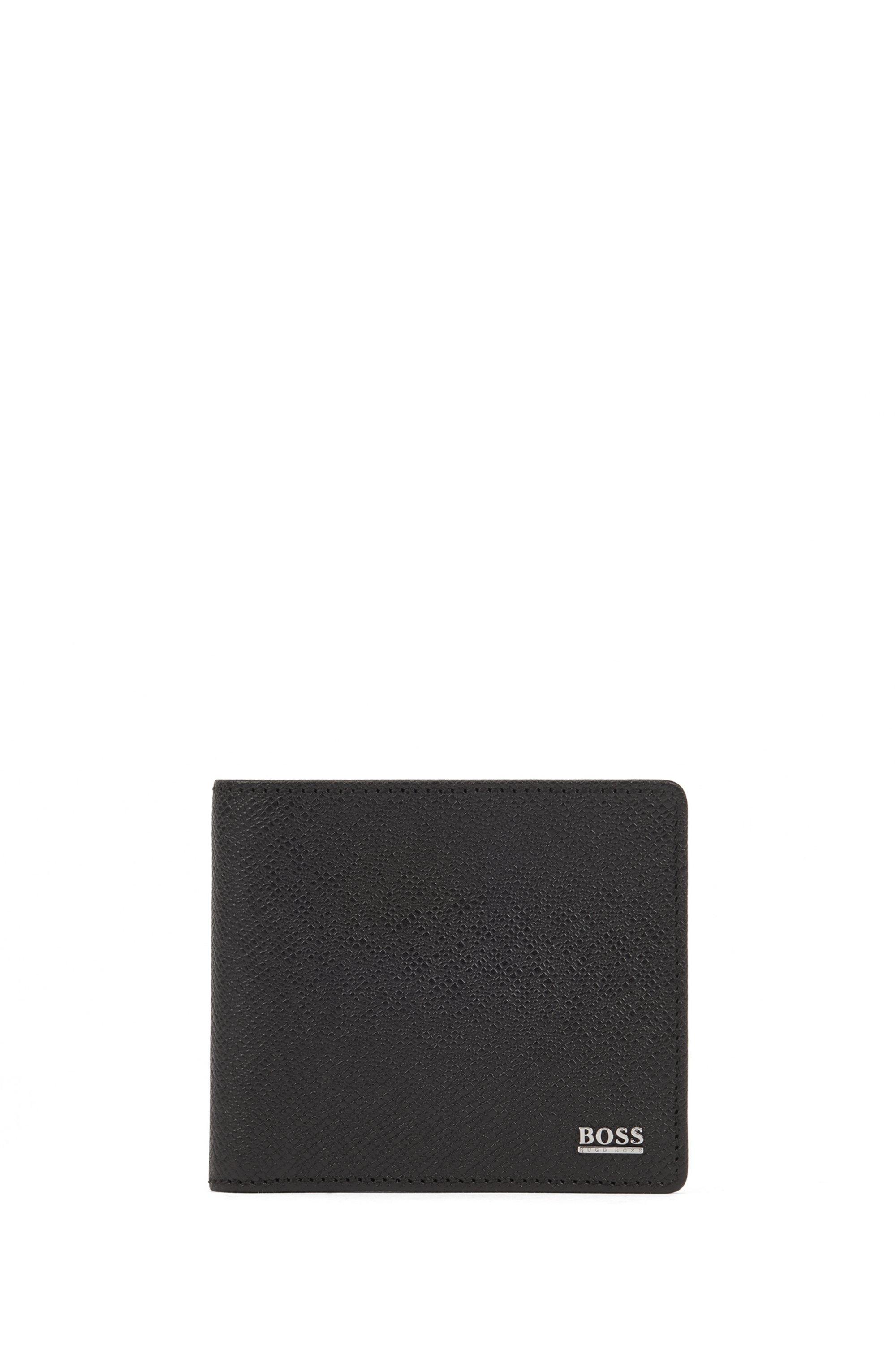 Geldbörse aus Palmellato-Leder aus der Signature Collection , Schwarz