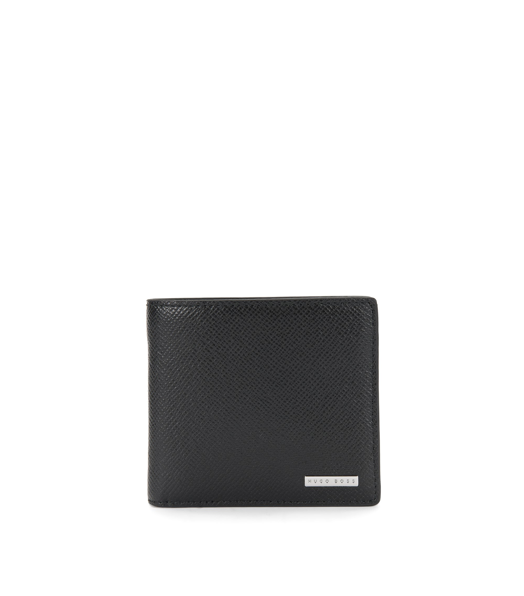 Signature Collection wallet in palmellato leather , Black