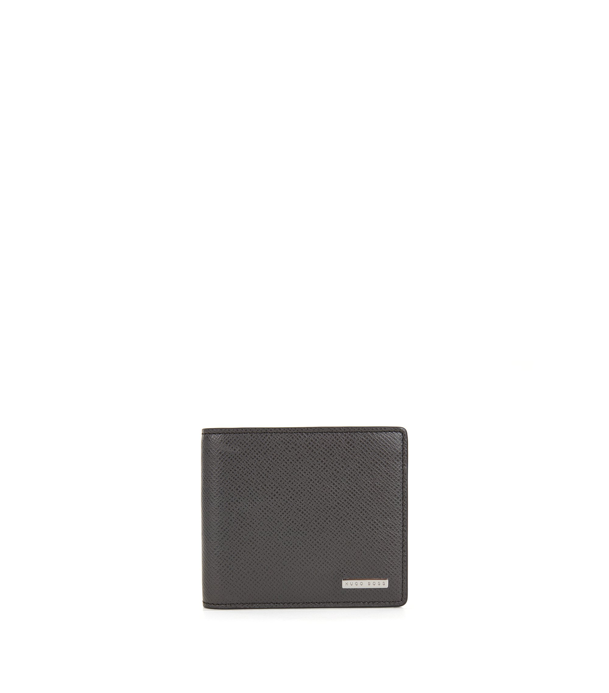 Signature Collection wallet in palmellato leather , Dark Grey