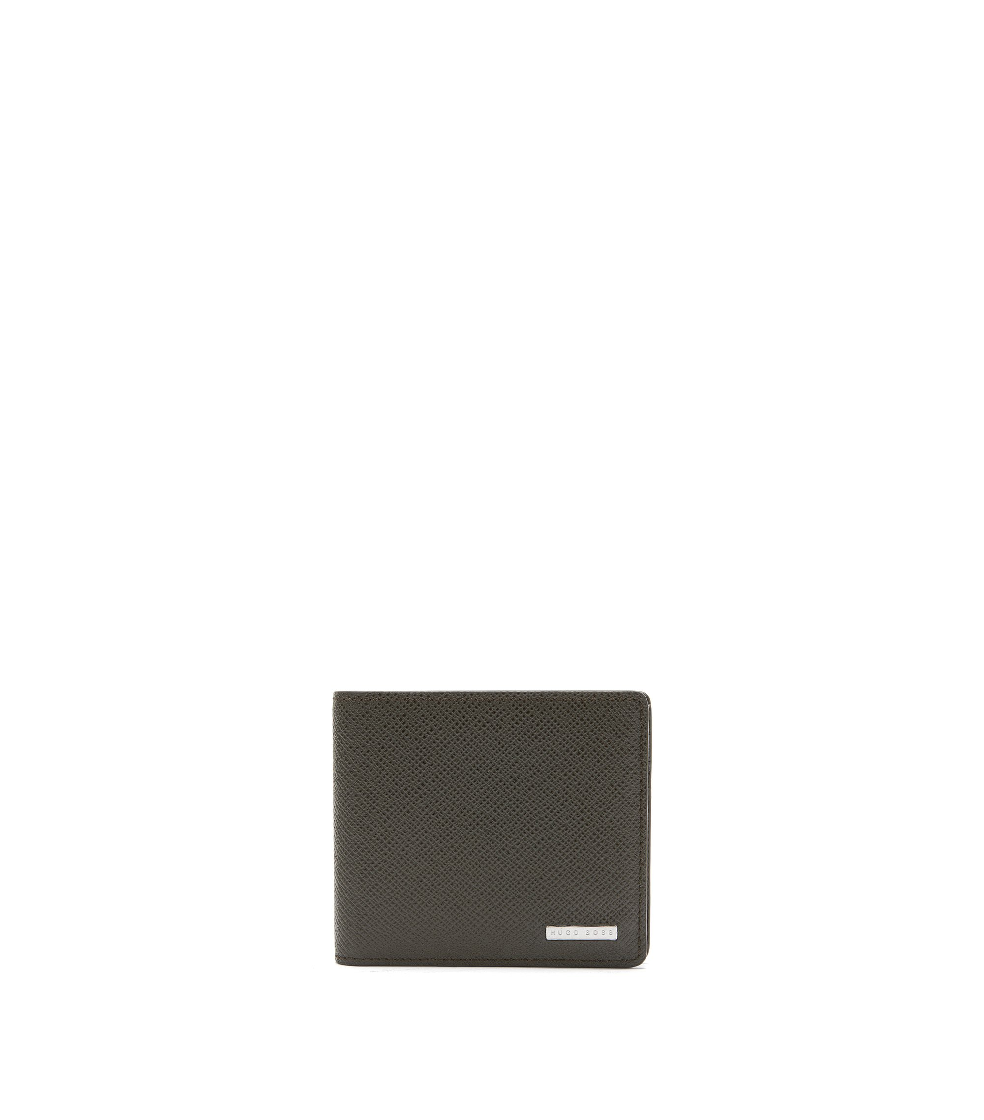 Signature Collection wallet in palmellato leather , Dark Green