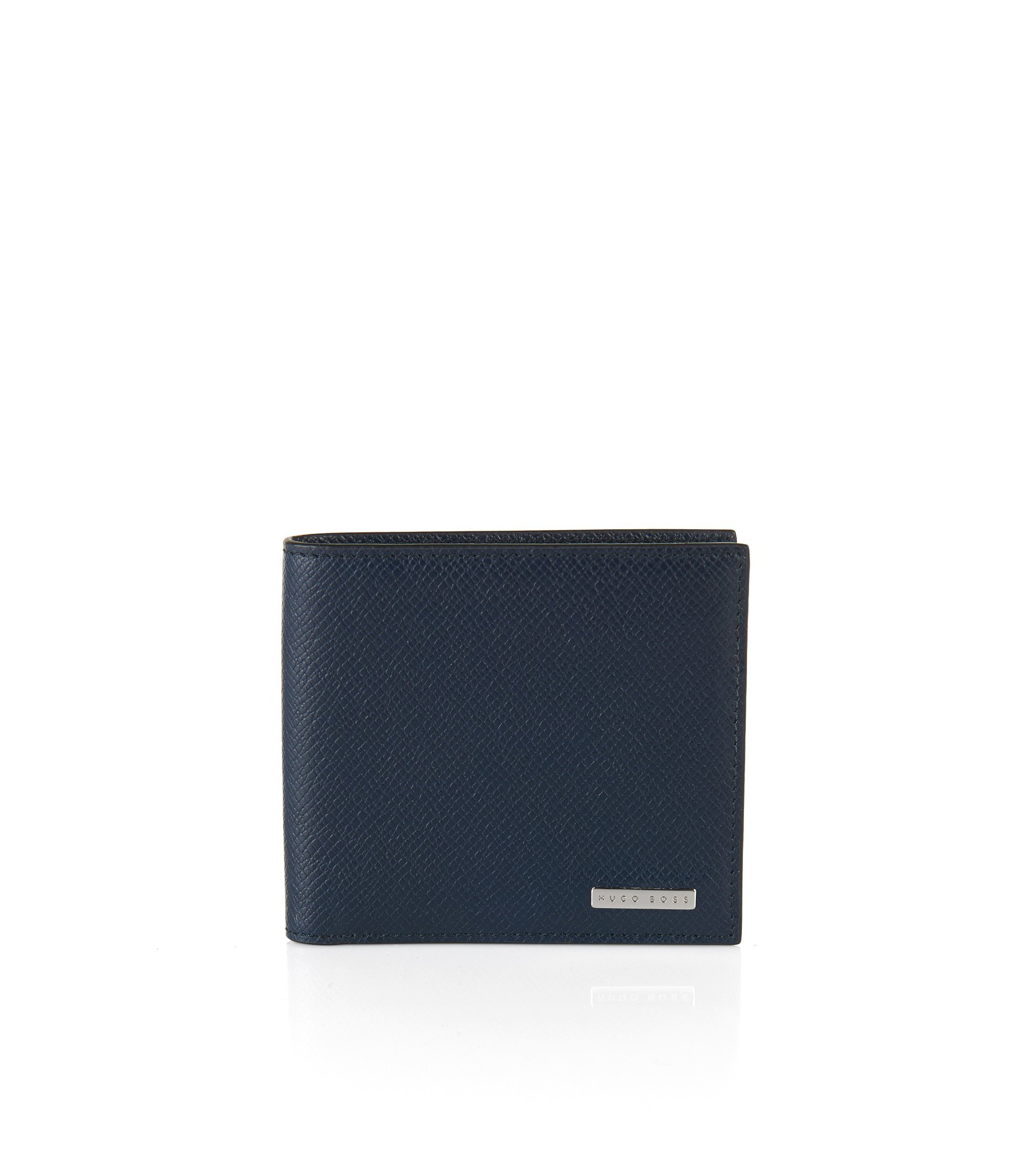 Signature Collection wallet in palmellato leather , Dark Blue