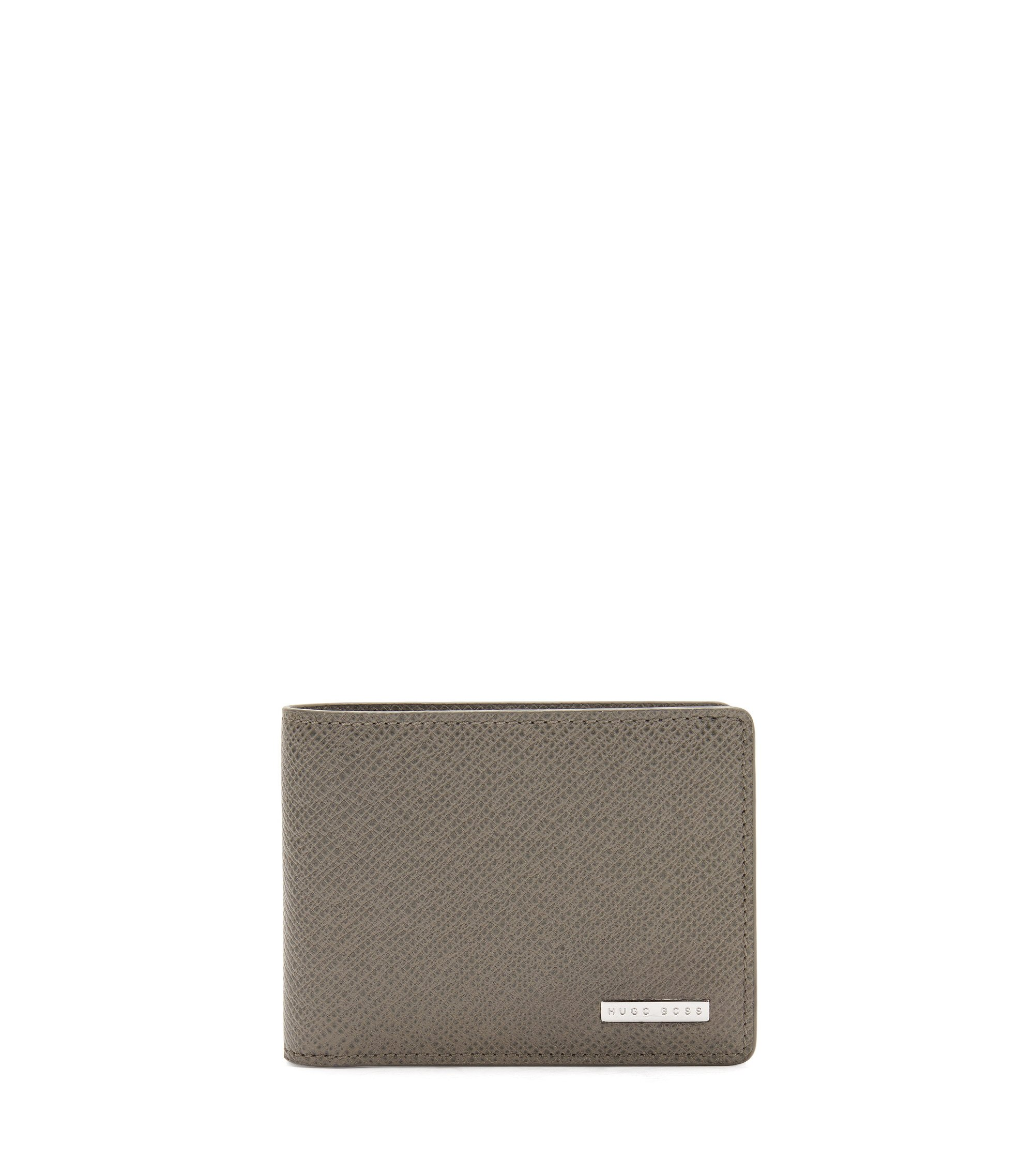 Signature Collection wallet in palmellato leather, Dark Grey