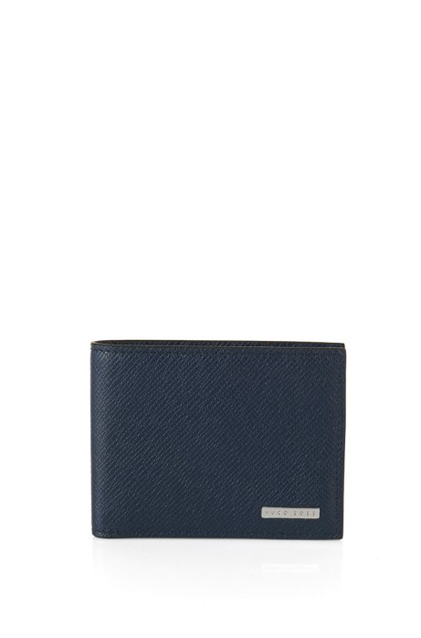 Signature Collection wallet in palmellato leather, Dark Blue