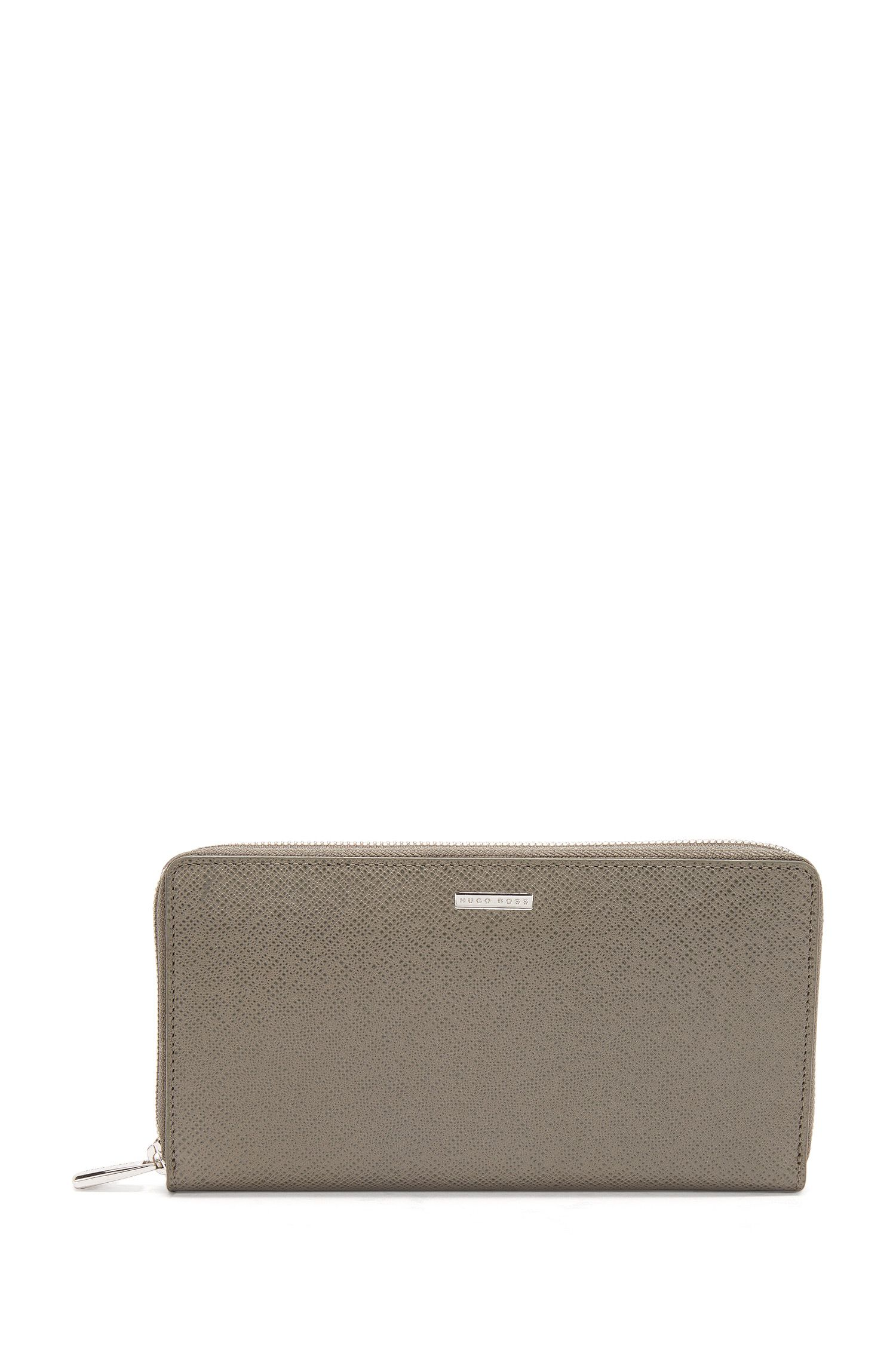 BOSS Signature Collection ziparound wallet in palmellato leather