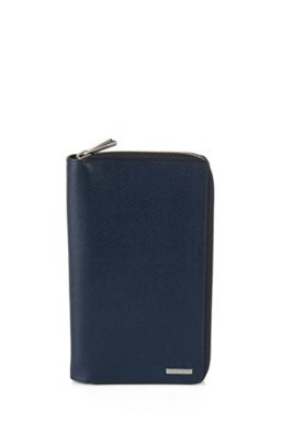 Signature Collection wallet in palmellato leather , Dark Blue