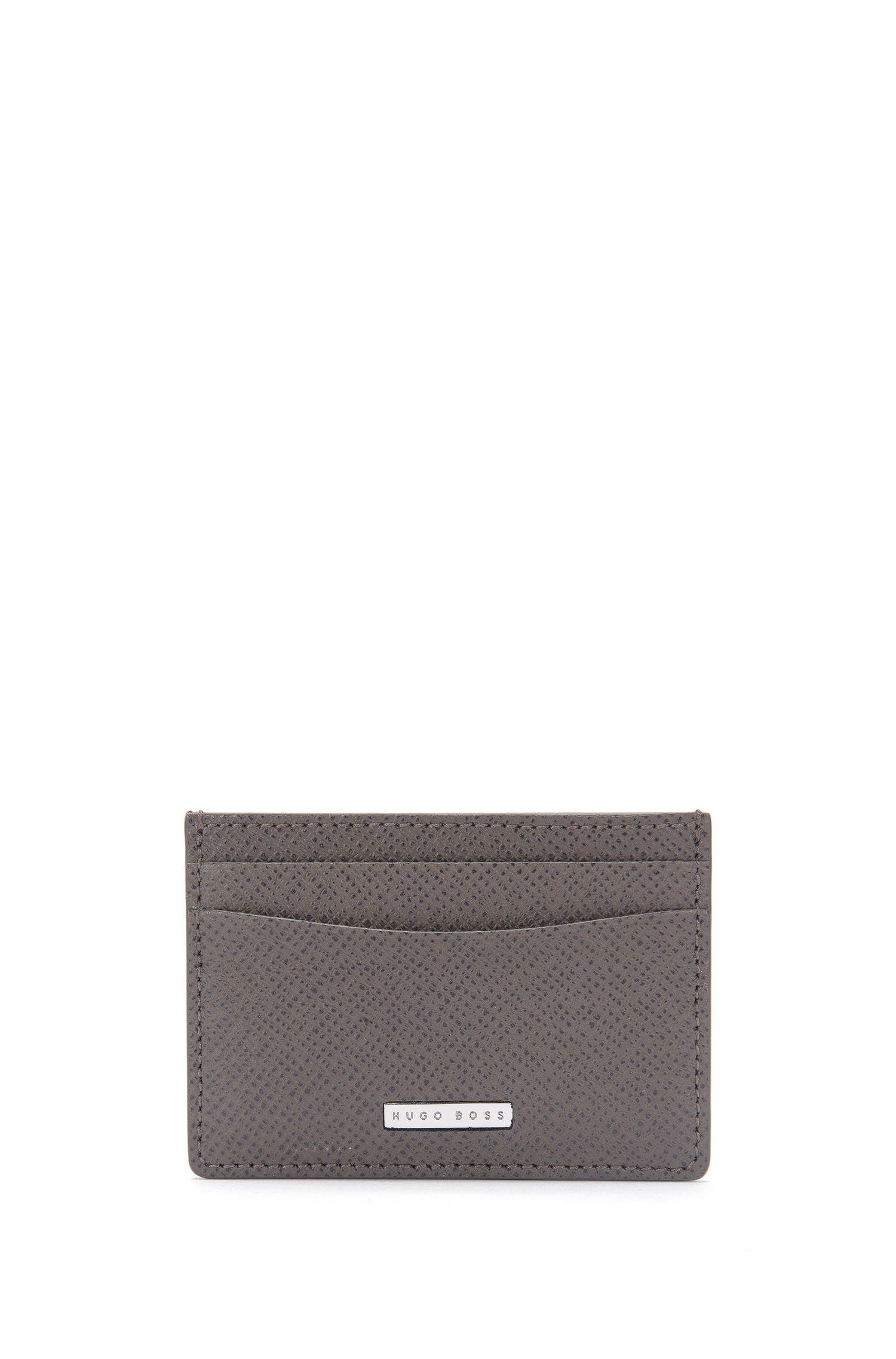 Kartenetui aus genarbtem Palmellato-Leder aus der Signature Kollektion von BOSS