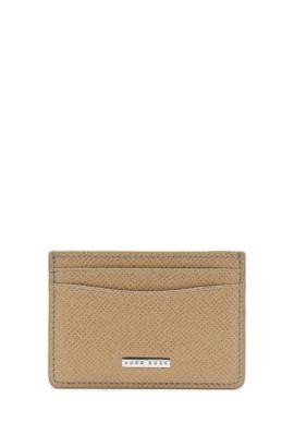 Kartenetui aus genarbtem Palmellato-Leder aus der Signature Kollektion, Beige