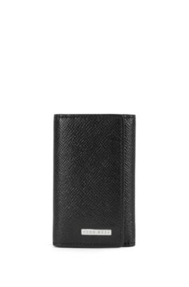 Signature Collection key case in palmellato leather, Black
