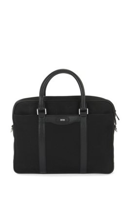 Signature Collection workbag with leather trims, Black
