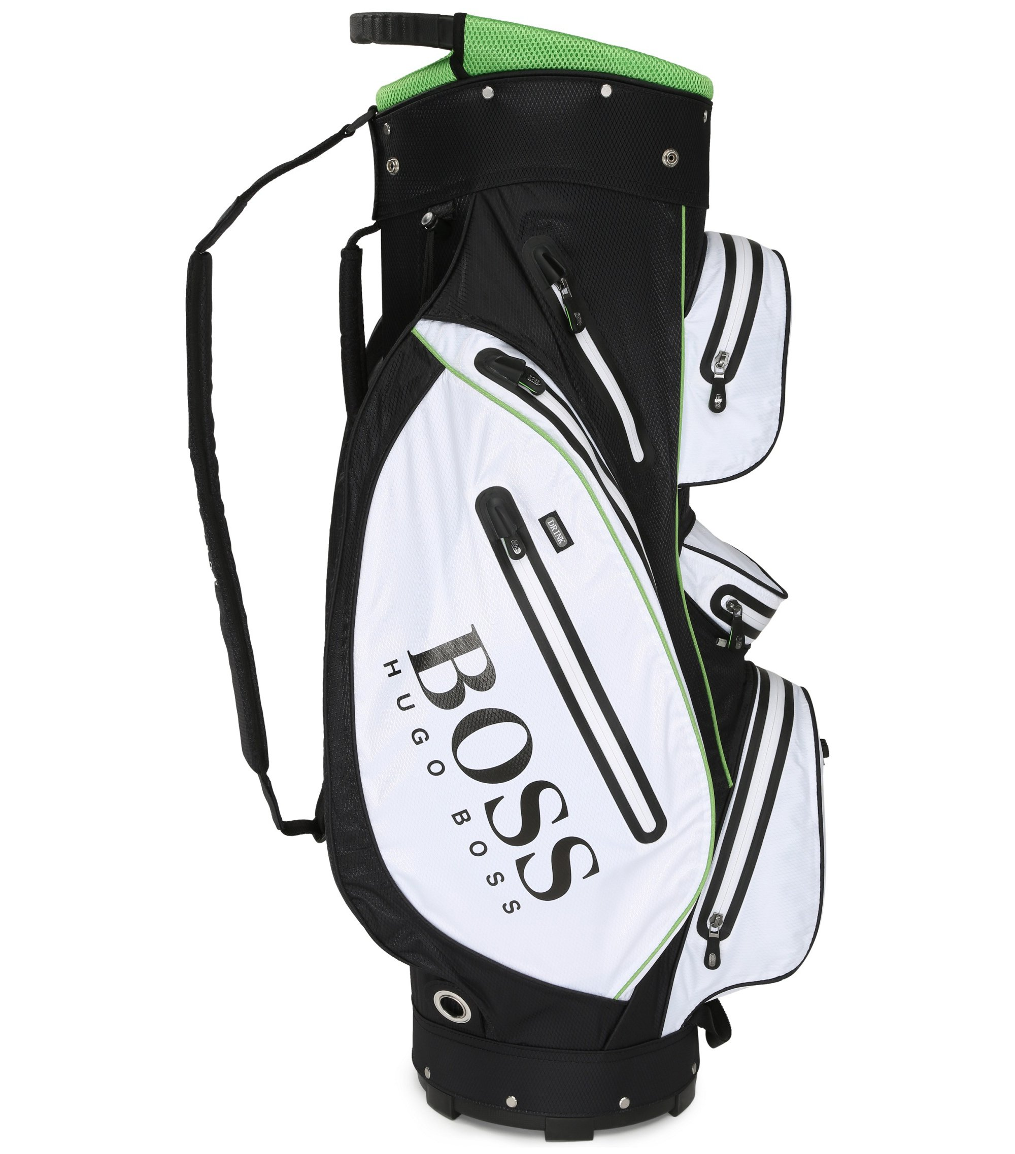 Borsa da golf in tessuto tecnico resistente, Nero