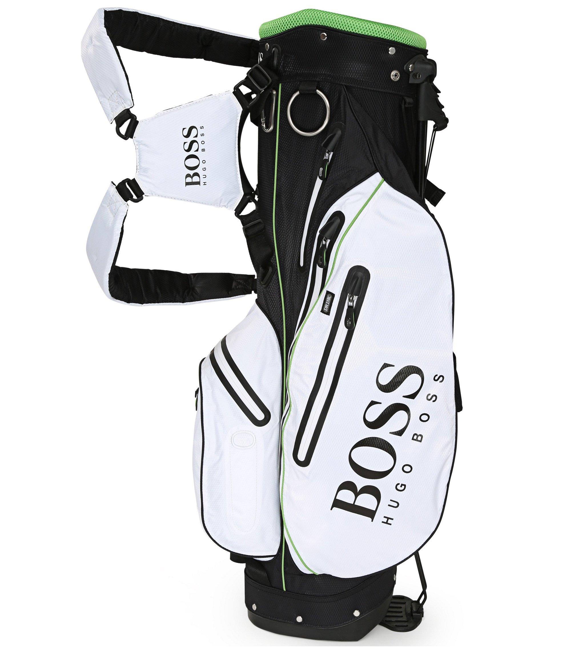 Lightweight golf bag with mesh details, White