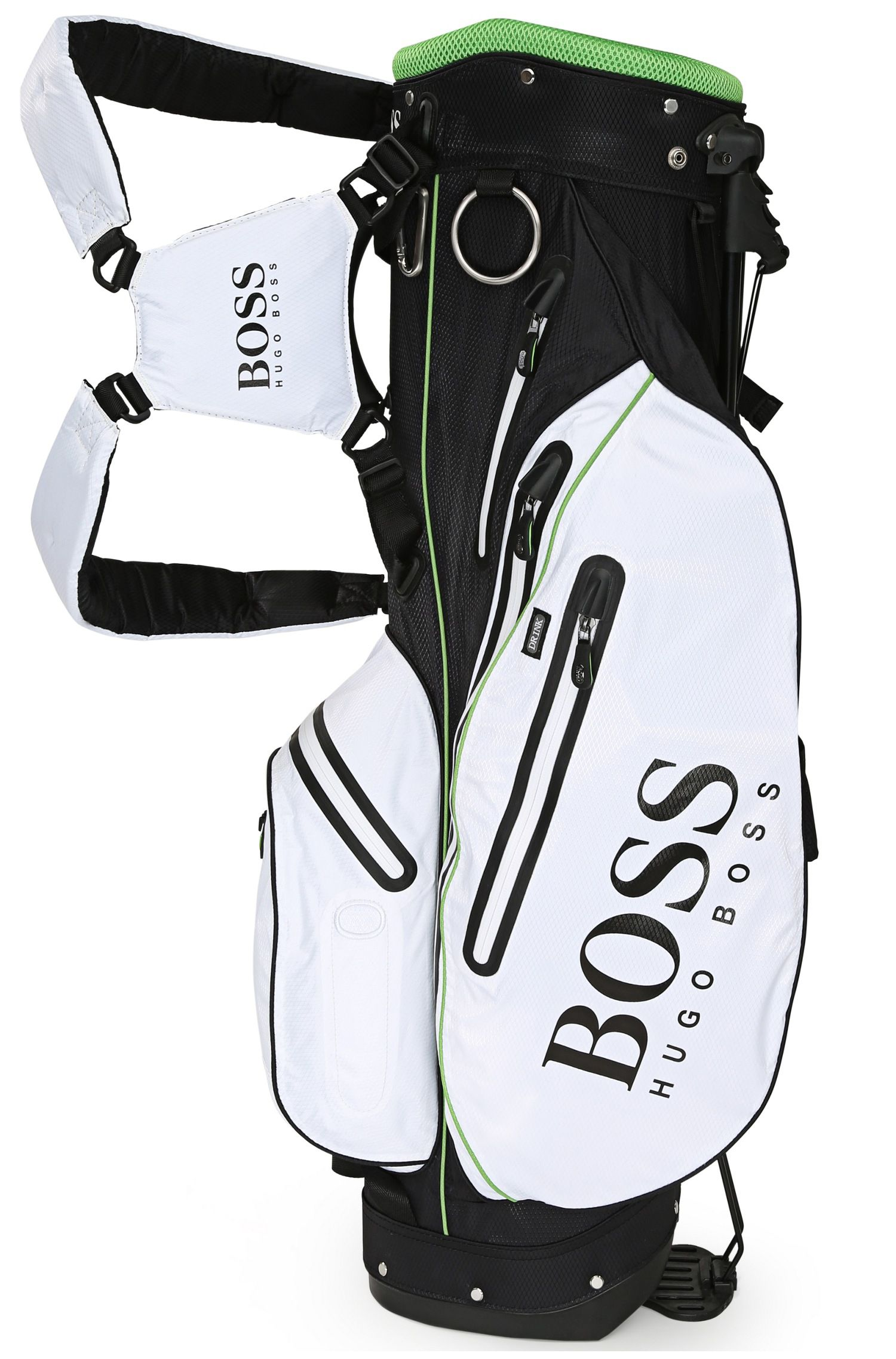Lightweight golf bag with mesh details