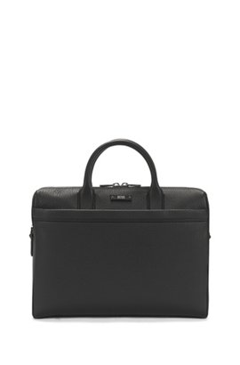Doent Case In Natural Grained Leather By Boss Black