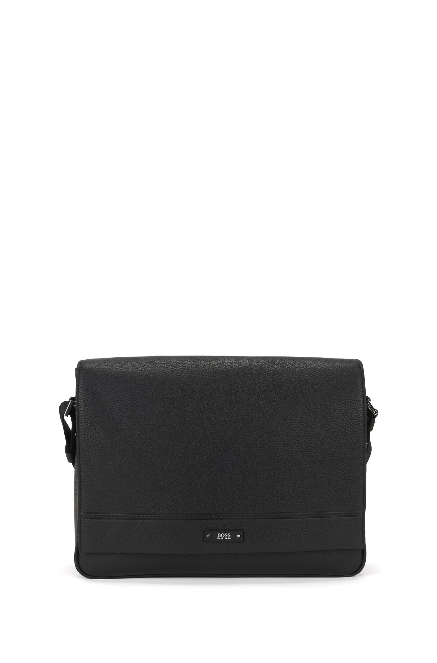 Travel Line Messenger Bag aus genarbtem Leder