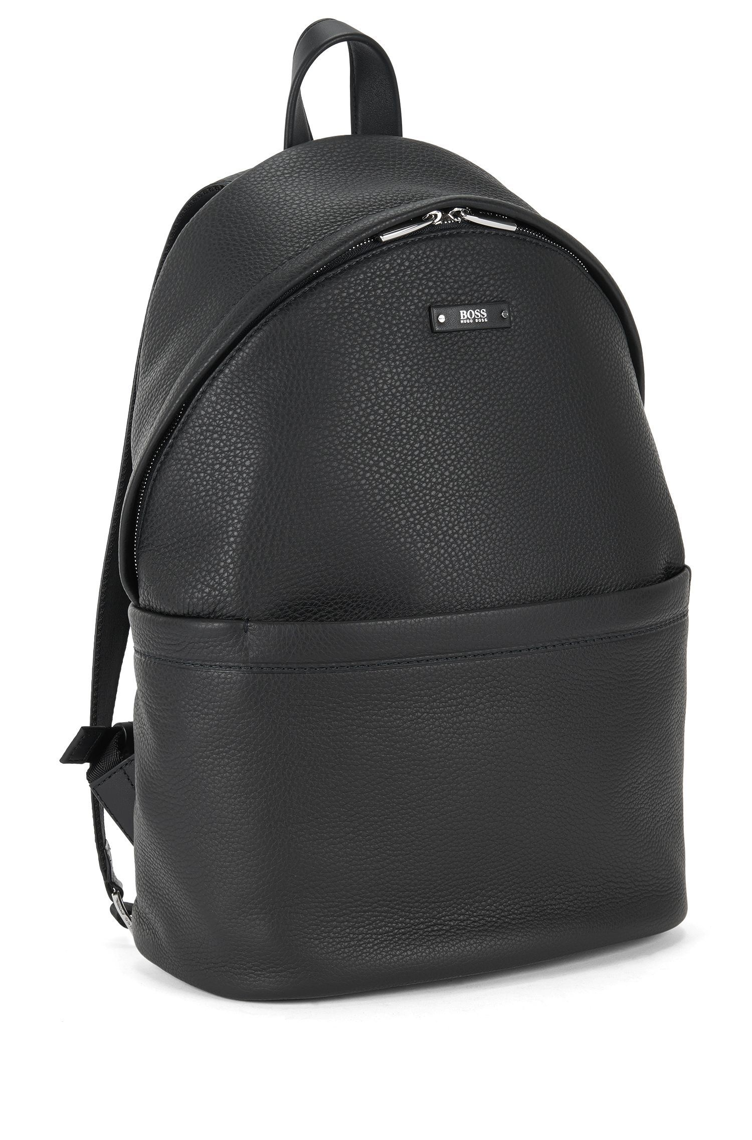 Backpack in grained Italian leather