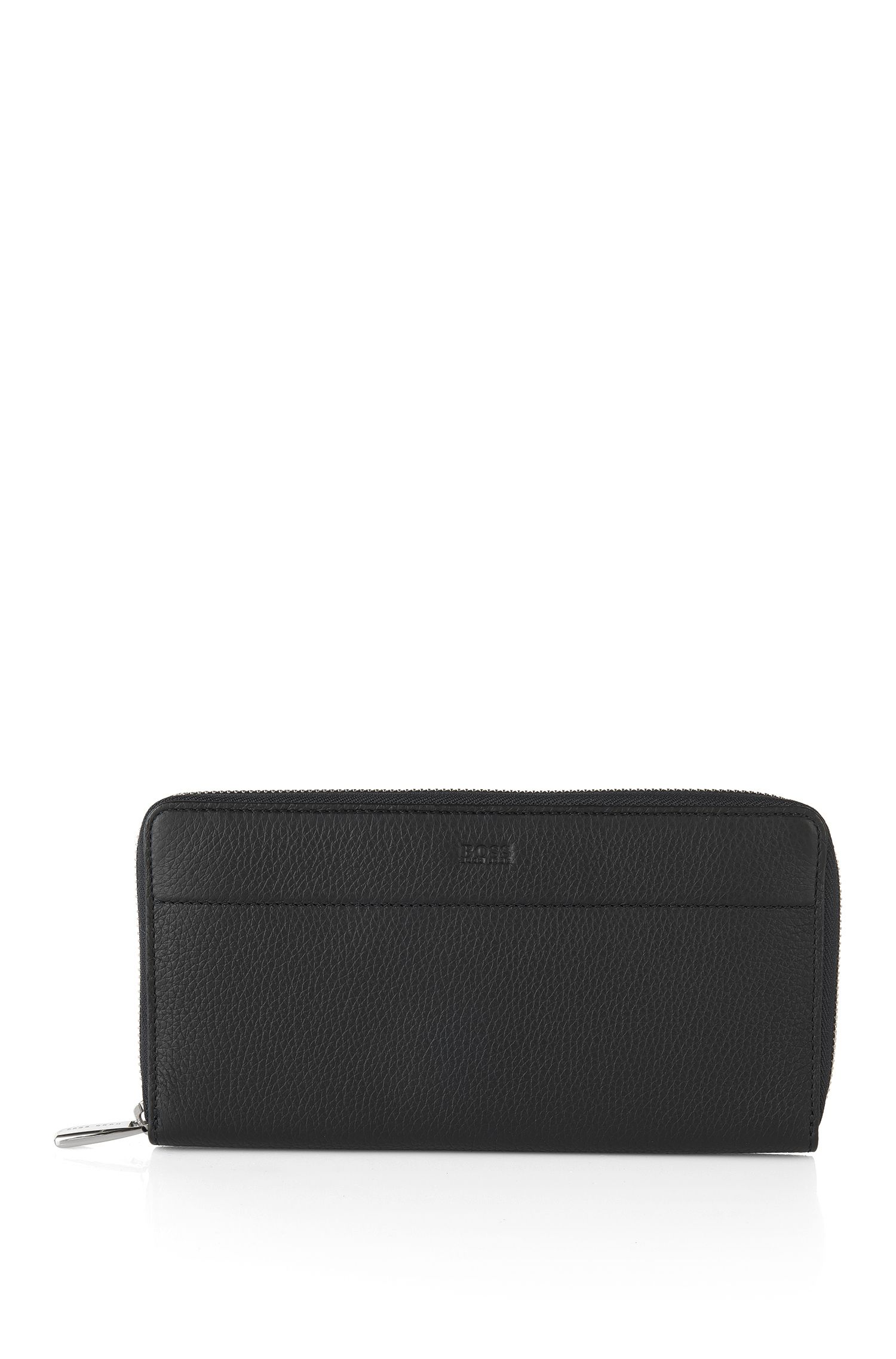 Wallet in textured leather: 'Traveller_S zip trav'