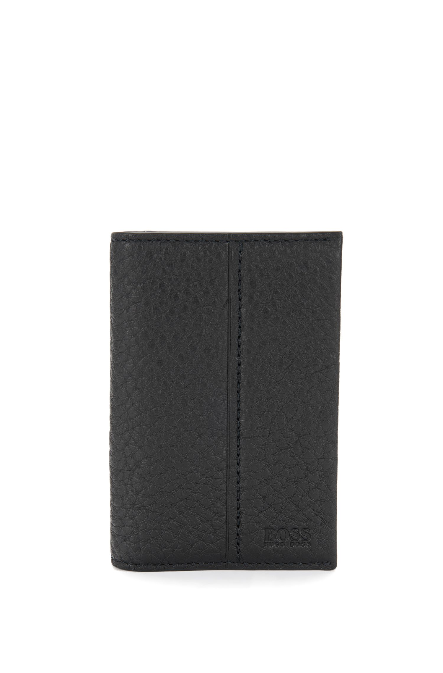 Traveller Collection card holder in grained leather