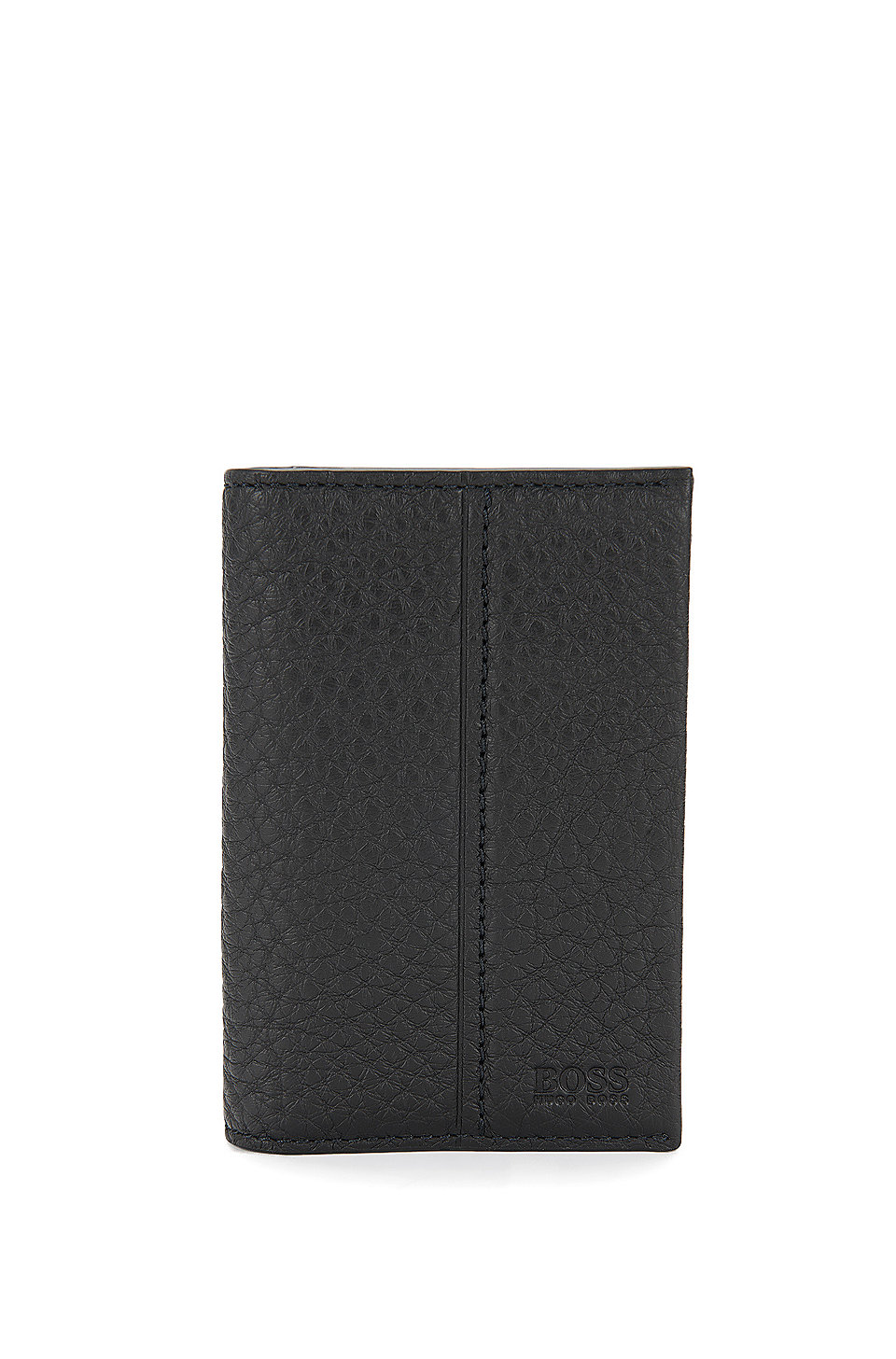 BOSS - Traveller Collection card holder in grained leather