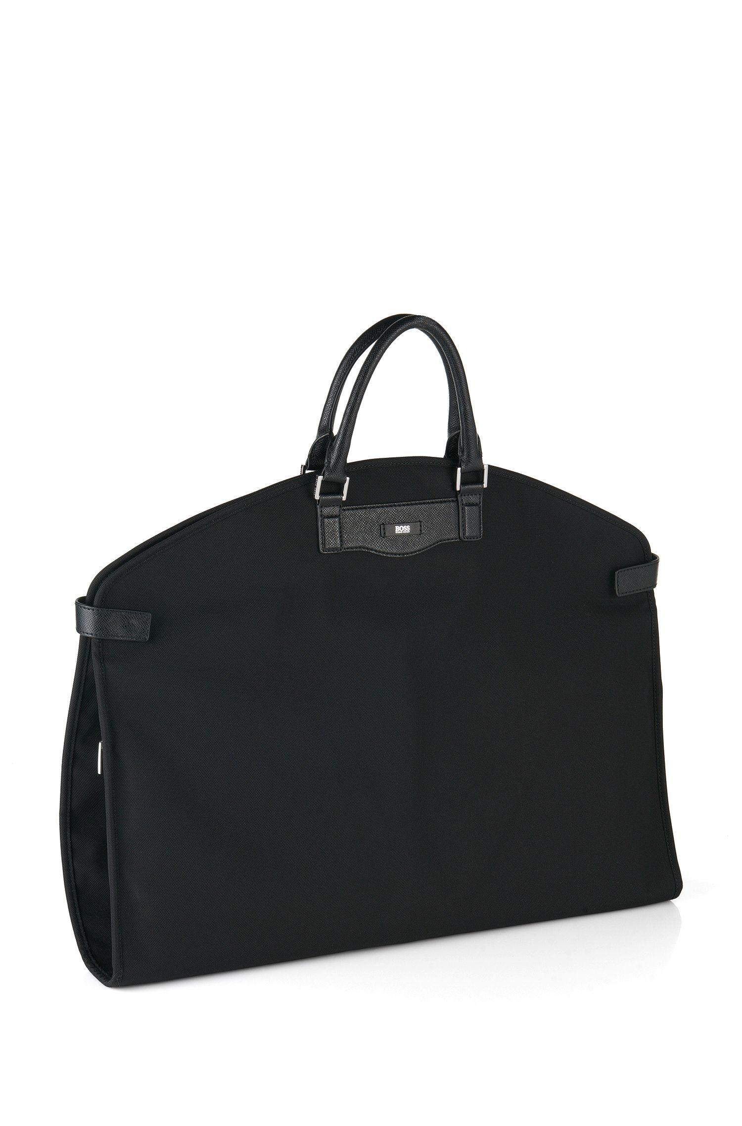 Garment bag with leather details: 'Signature L_Garment'