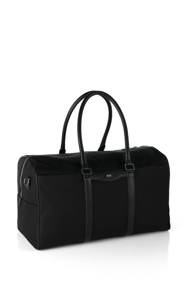 weekender bag with leather detailing 39 signature l b hold 39. Black Bedroom Furniture Sets. Home Design Ideas