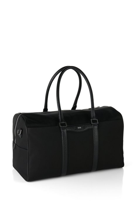 a14484a836d BOSS - Weekender bag with leather detailing   Signature L B Hold