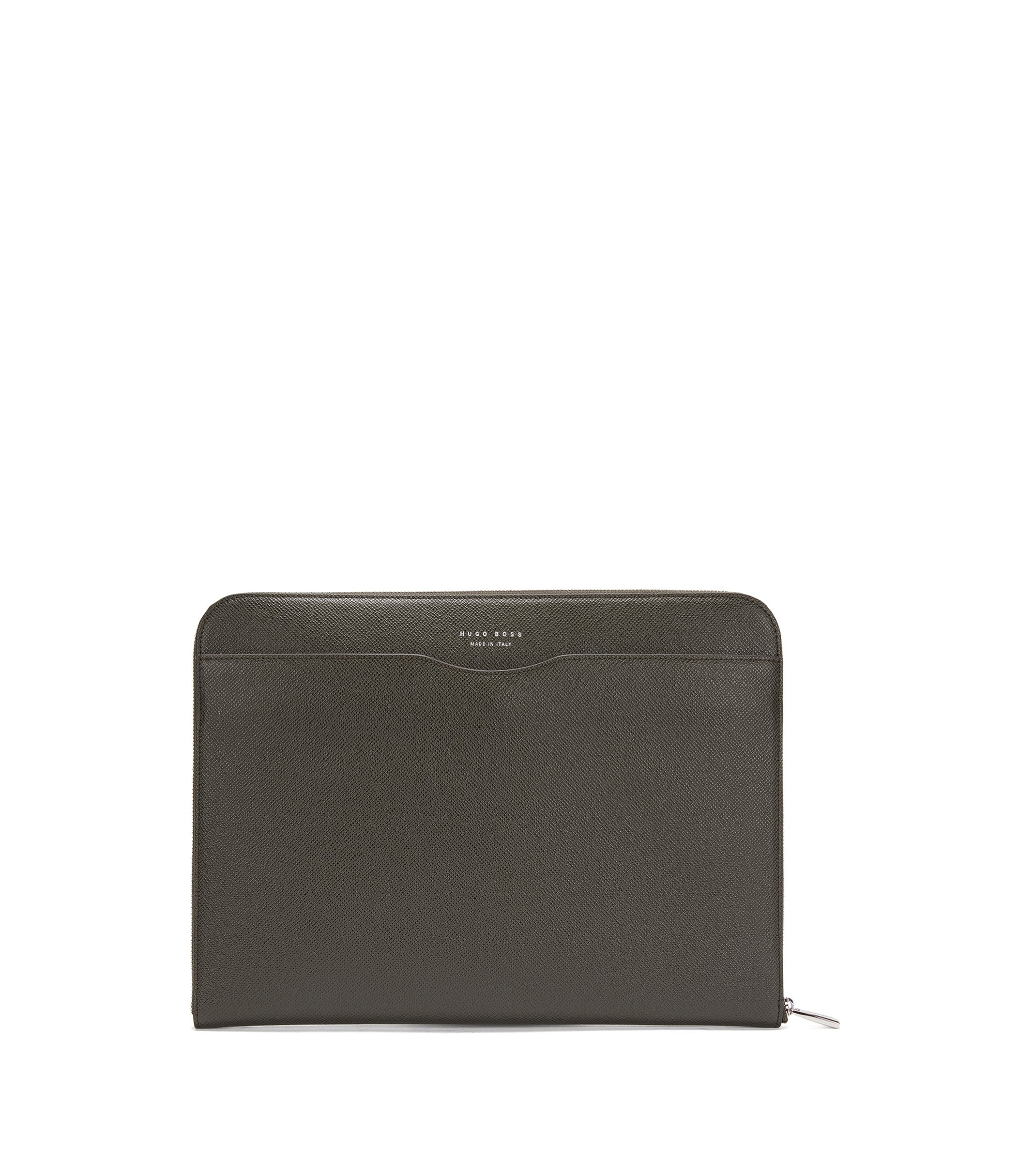 Signature Collection document case in palmellato leather, Dark Green