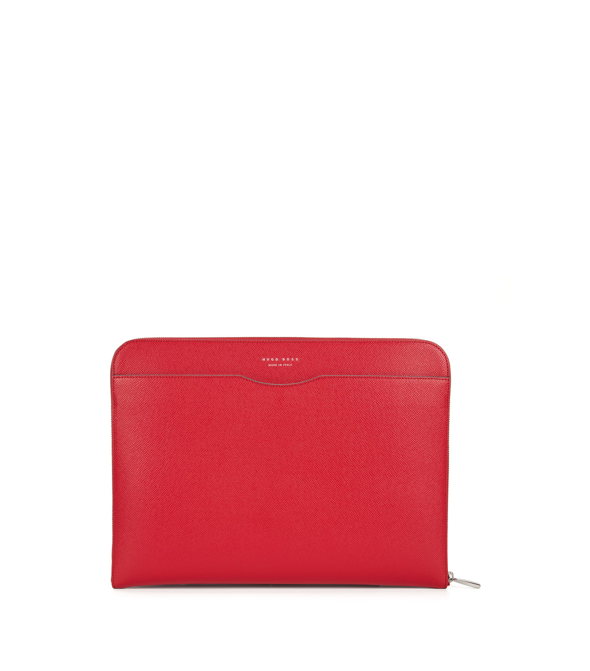 Porte-document de la collection Signature en cuir palmellato, Rouge