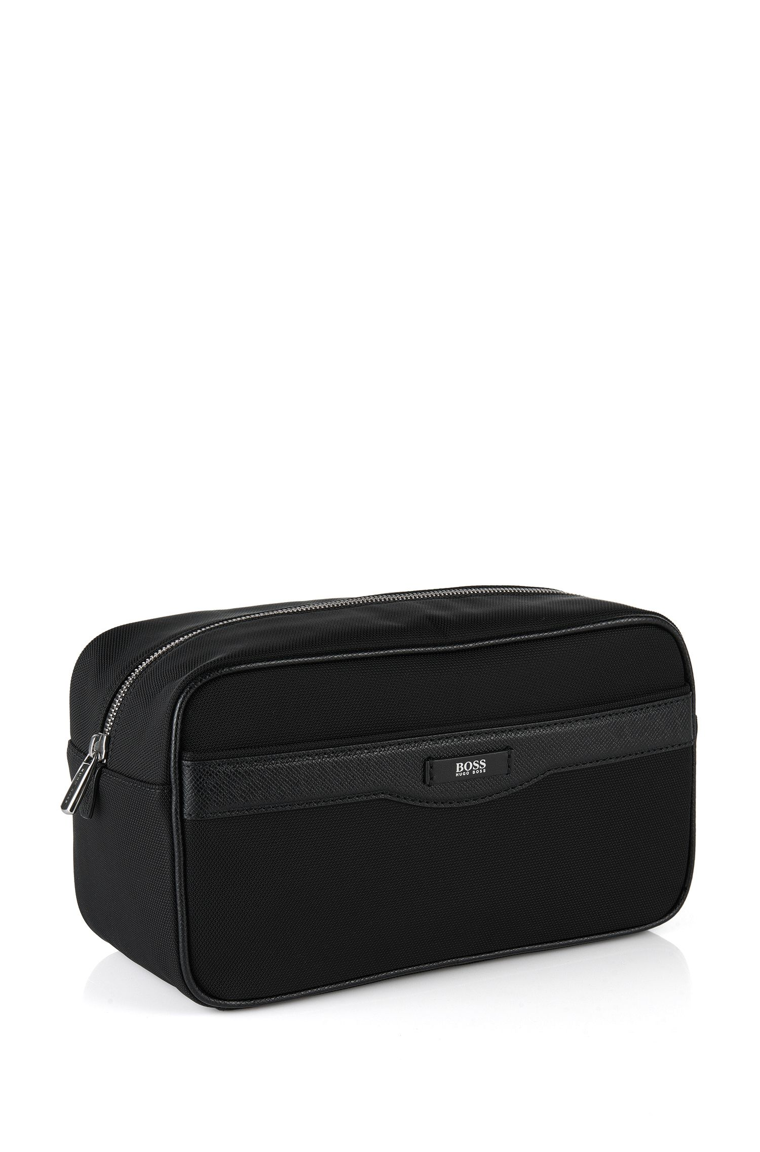 Signature Collection washbag with leather trims