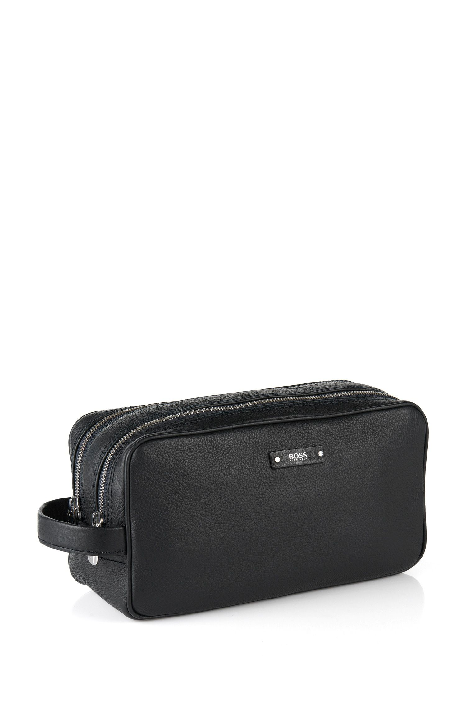 Traveller Collection Italian leather washbag