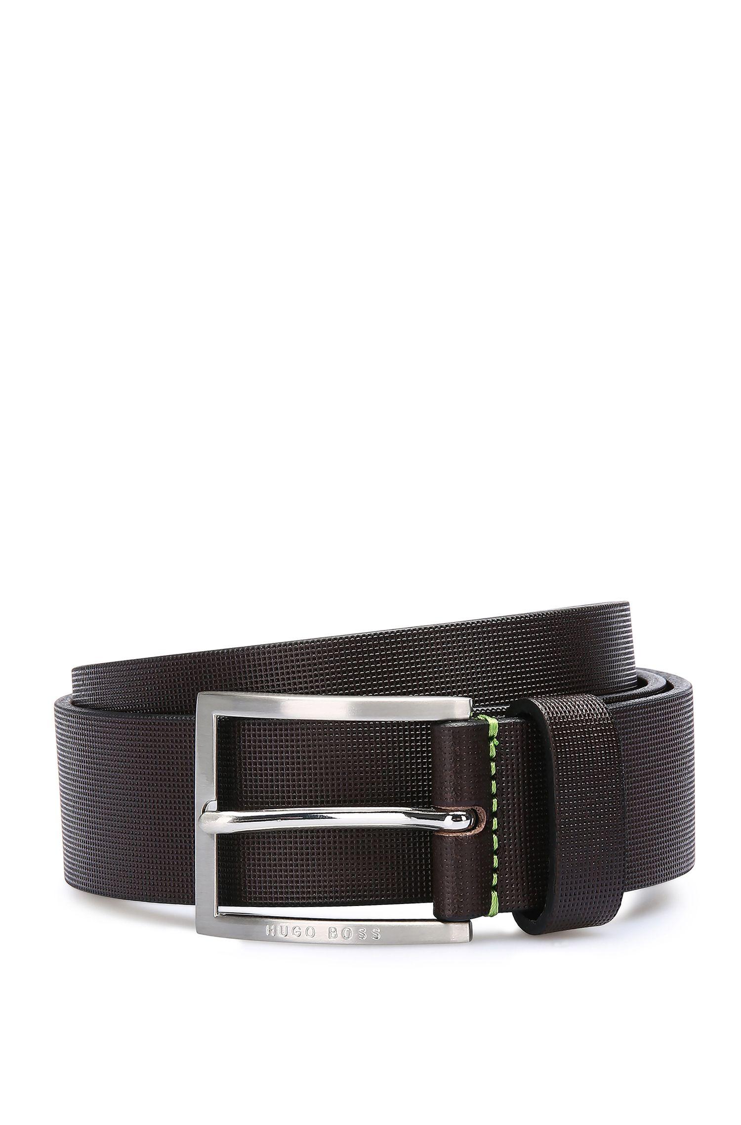 Cinturón de piel con textura: 'Tienzo'