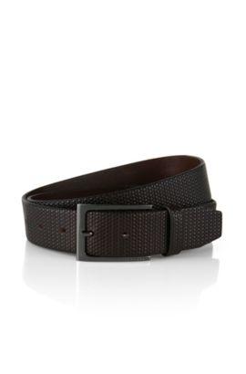 Cinturón trenzado de piel: 'Carmai', Marrón oscuro