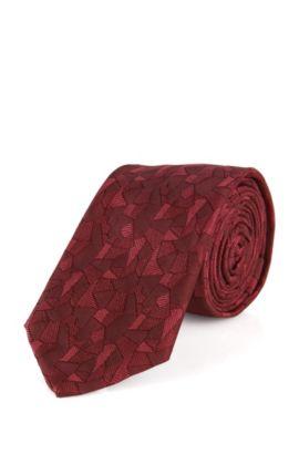 Cravate en soie à motif abstrait: «Tie6cm», Rouge
