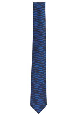 Schmale Krawatte aus gemusterter Seide: 'Tie 6 cm', Dunkelblau