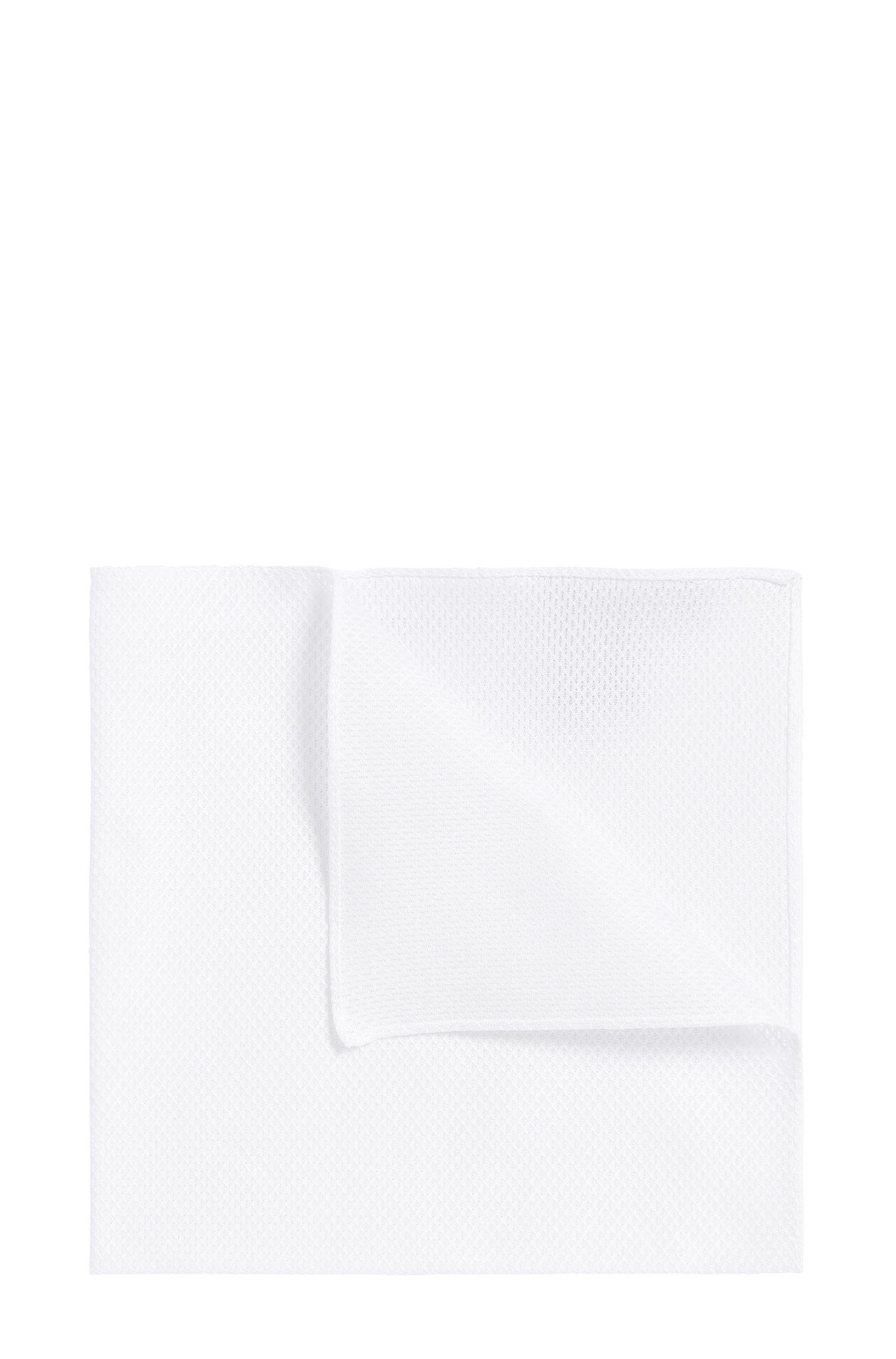 Pochette unie en coton structuré: «Pocket sq. cm33x33»