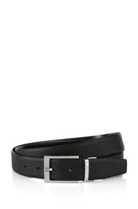 Cinturón reversible en piel: 'Luzern', Negro
