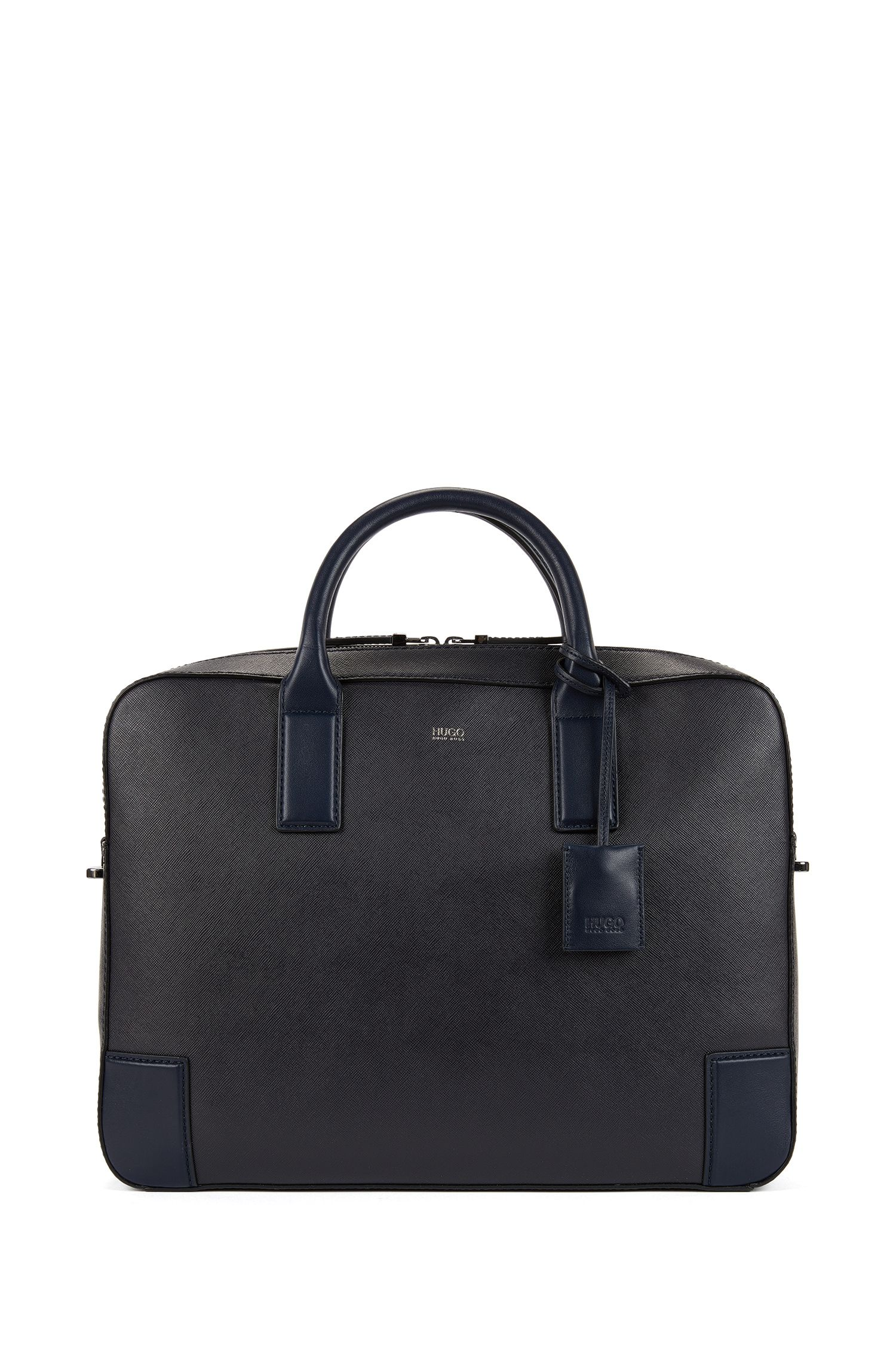 Document case in printed leather