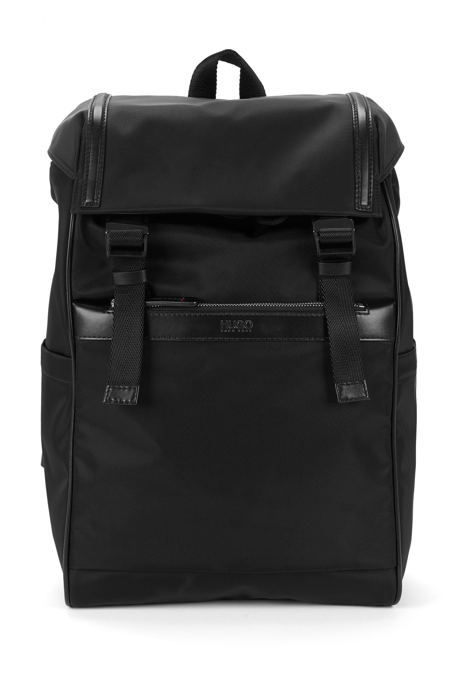 Rucksack mit Leder-Details: 'Digital L_Backpack'