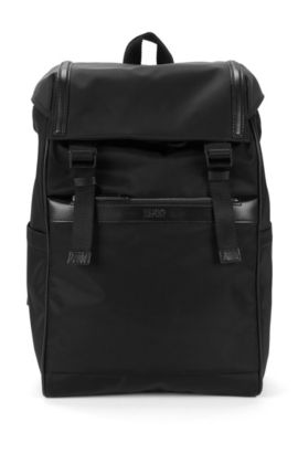 Zaino con dettagli in pelle: 'Digital L_Backpack', Nero