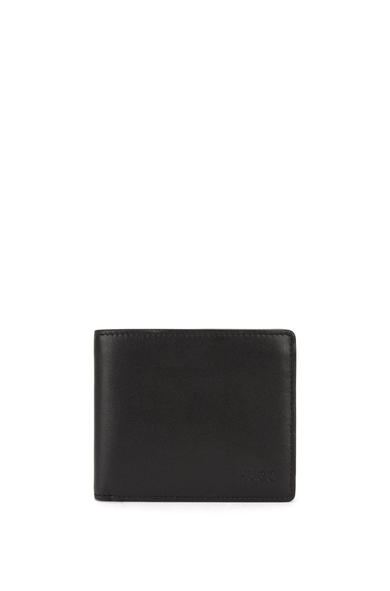 Bifold wallet in smooth leather